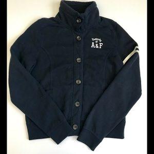 Abercrombie Kids Navy Sweatshirt Jacket Size L